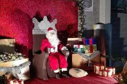 Papá Noel en su visita a Barreiros