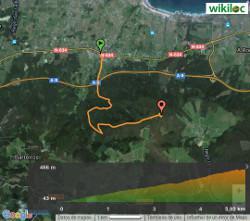 Ruta de Comado - Mapa